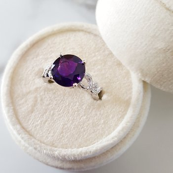Round Arizona Amethyst Ring