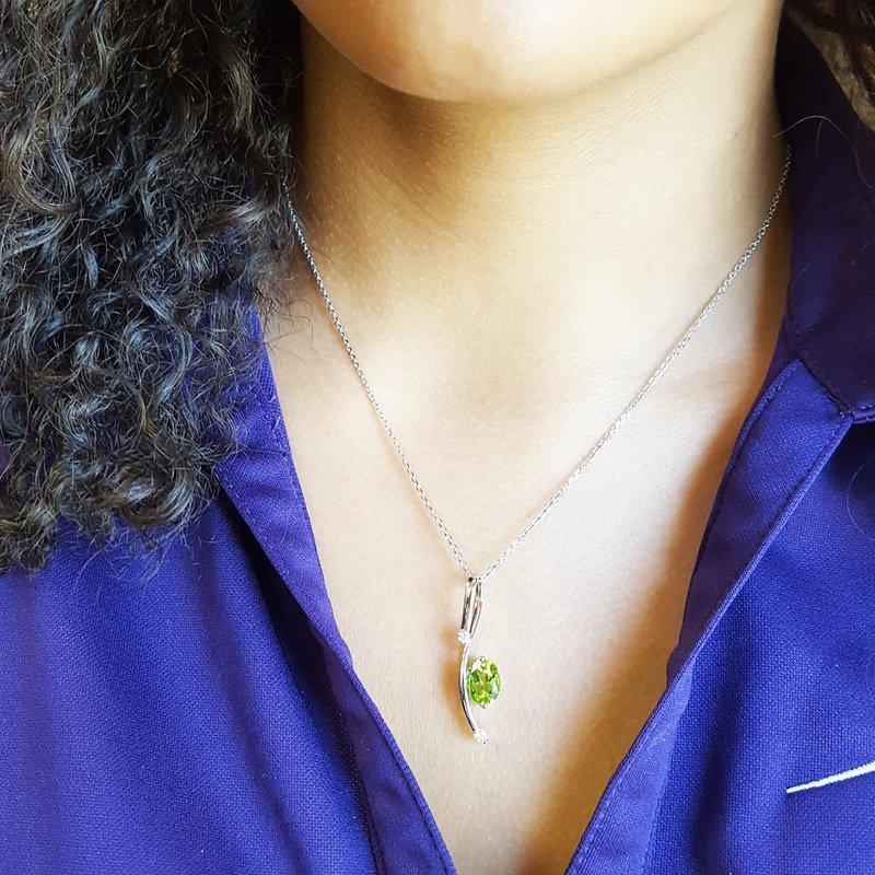 Arizona Peridot Gold Jewelry Oval Peridot Pendant