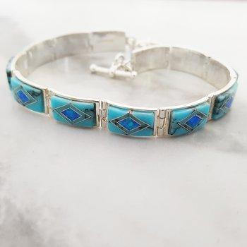 Geometric Link Bracelet