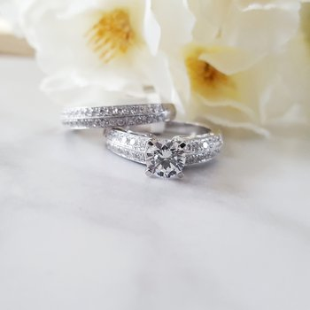 Double Row Wedding Set