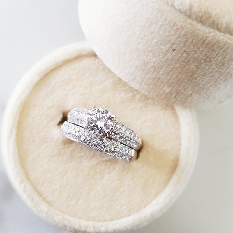 Sami Fine Jewelry Double Row Wedding Set