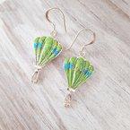 Arizona Turquoise and Inlaid Jewelry Gaspeite Hot Air Balloon Earrings