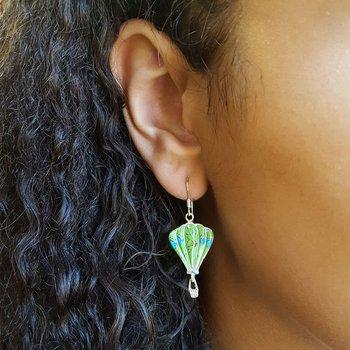 Gaspeite Hot Air Balloon Earrings