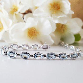 Aquamarine Bezel Bracelet