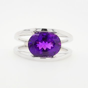 Oval Split Shank Ring