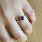 Arizona Amethyst™ Gold Jewelry Must-Have Double Prong 3/4CT Ring