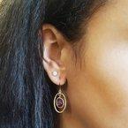 Arizona Amethyst™ Gold Jewelry Open Dangle Amethyst Earrings