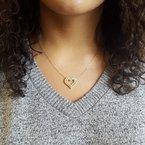 Gems One Diamond Double Open Heart Pendant Necklace (1 ctw