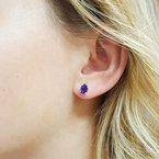 Arizona Amethyst™ Silver Jewelry Oval Peridot Accent Studs