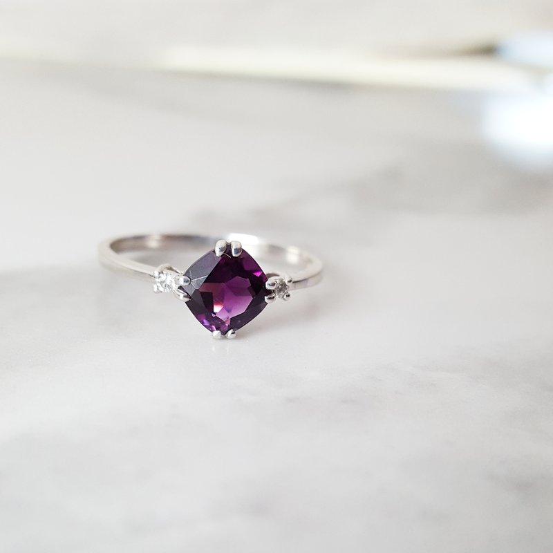 Arizona Amethyst™ Gold Jewelry Double Prong Cushion Cut Ring