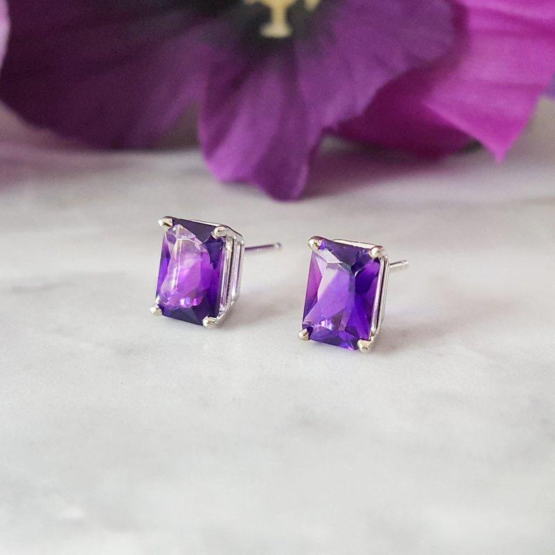 Arizona Amethyst™ Gold Jewelry Essential 1 1/2CT Radiant-Cut Earrings
