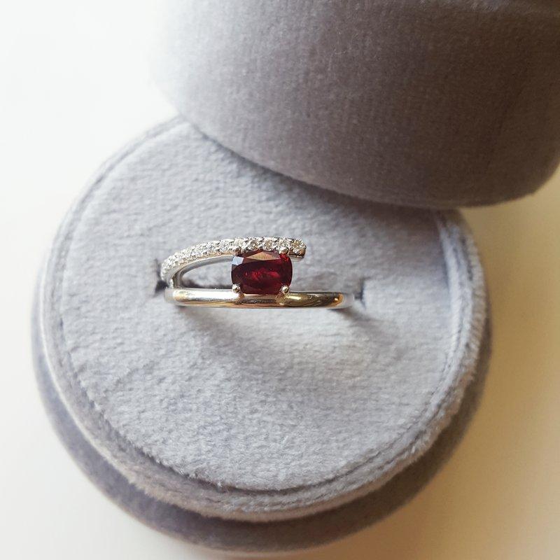 Arizona Anthill Garnet Gold Jewelry Garnet Open Ring