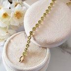 Arizona Peridot Gold Jewelry Round Peridot Bezel Set Bracelet