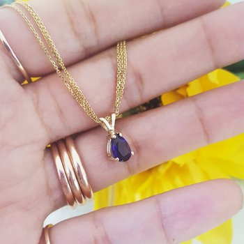 Amethyst Pear Shaped Pendant