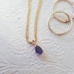 Arizona Amethyst™ Gold Jewelry Amethyst Pear Shaped Pendant