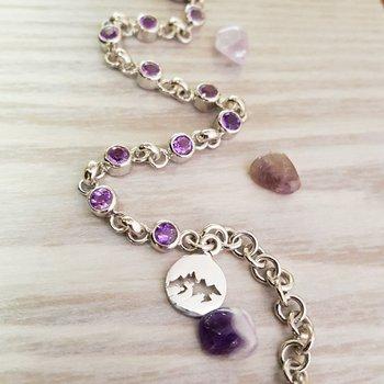 Arizona Amethyst Sterling Silver Bracelet