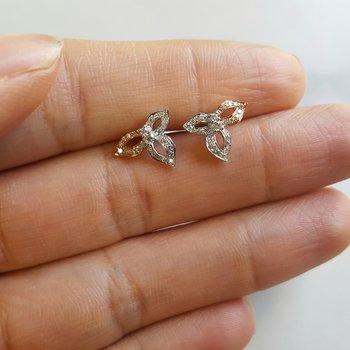 Floral Leaf Diamond Studs