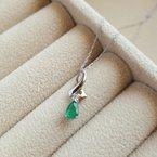 Sami Fine Jewelry Emerald Drop Pendant