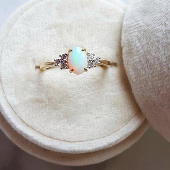 Opal Birthstone Ring