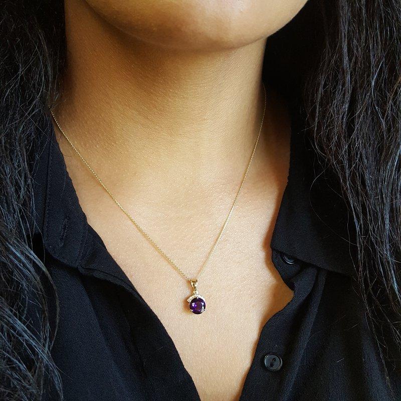 Arizona Amethyst™ Gold Jewelry Sunbeam Pendant