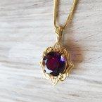 Arizona Amethyst™ Gold Jewelry Vintage Yellow Gold Amethyst Pendant