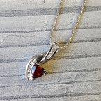 Arizona Anthill Garnet Gold Jewelry Winding Bale Pendant