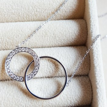Looped Circle Diamond Necklace