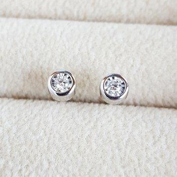 Illusion Diamond Earring Set