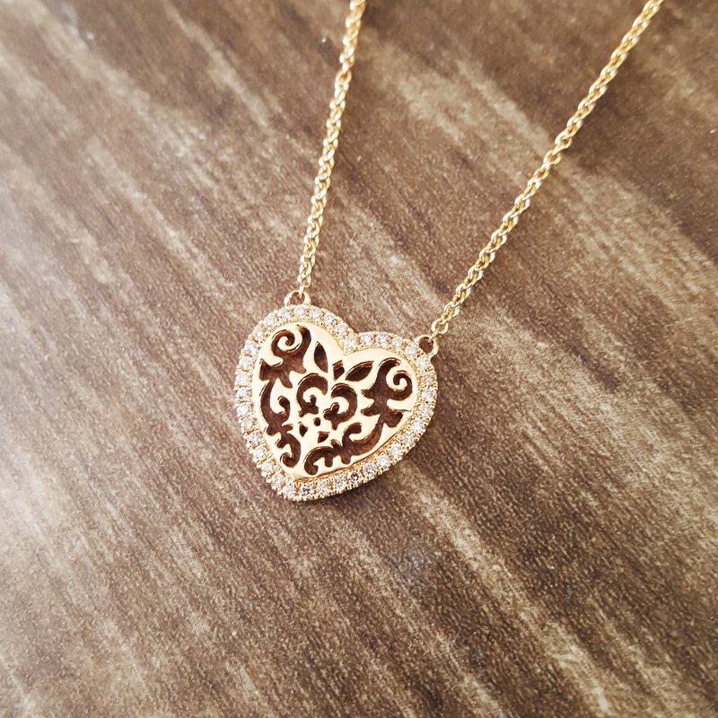 Sami Fine Jewelry Scroll Heart Necklace