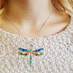 Arizona Turquoise and Inlaid Jewelry Arizona Turquoise and Inlay Dragonfly Pendant