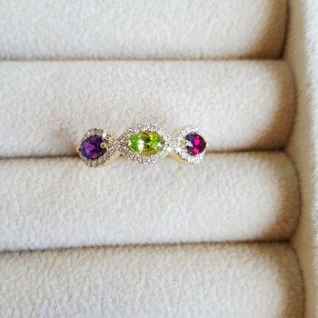 Gemstone Oval Explorer Ring