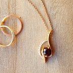 Arizona Anthill Garnet Gold Jewelry Swirl Pendant