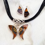 Butterflies & Myths Monarch Necklace and Earring Set