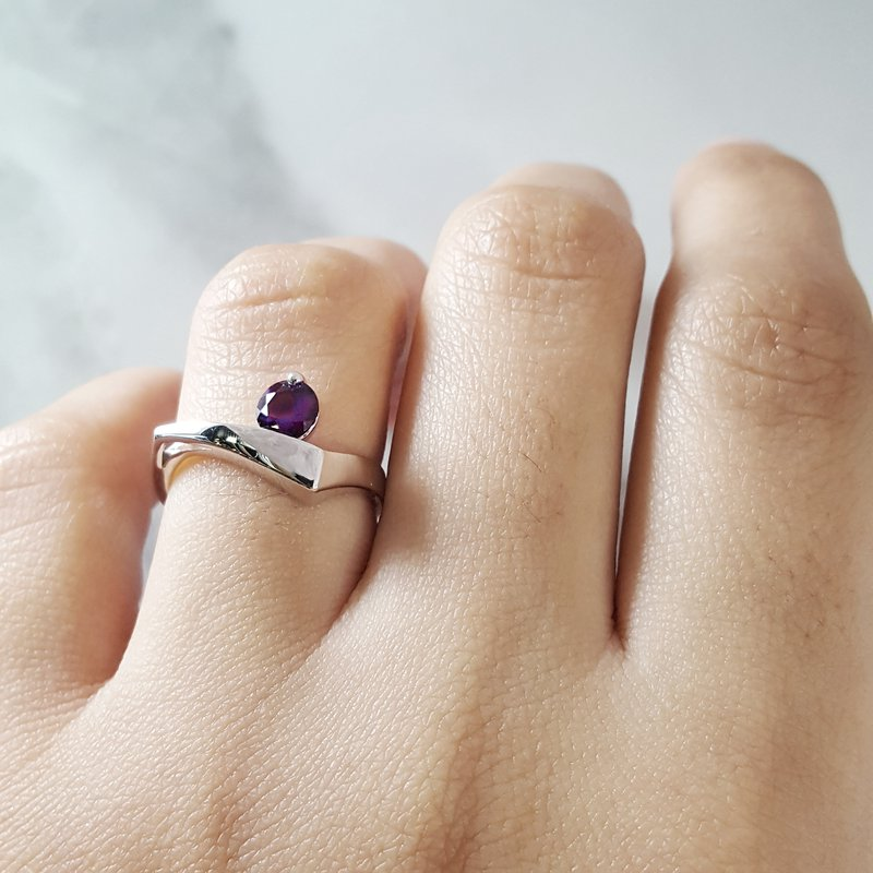 Arizona Amethyst™ Silver Jewelry Amethyst Freeform Ring