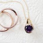 Arizona Amethyst™ Gold Jewelry Modern Loop Pendant