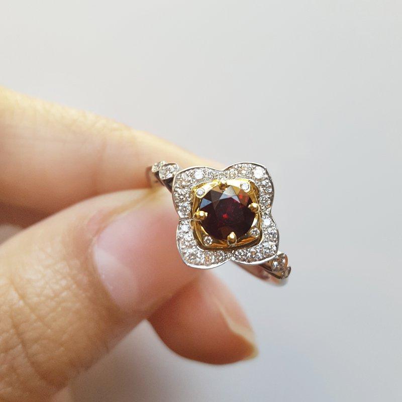 Arizona Anthill Garnet Gold Jewelry Vintage Inspired Bloom Ring
