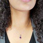 Arizona Amethyst™ Silver Jewelry Trillion Bar Pendant