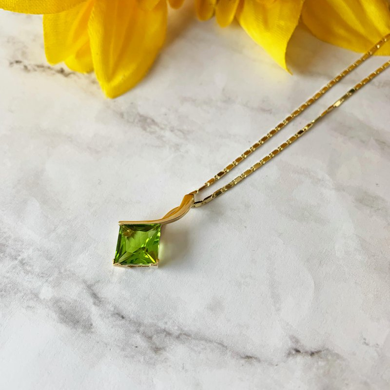 Arizona Peridot Gold Jewelry Princess Pendant