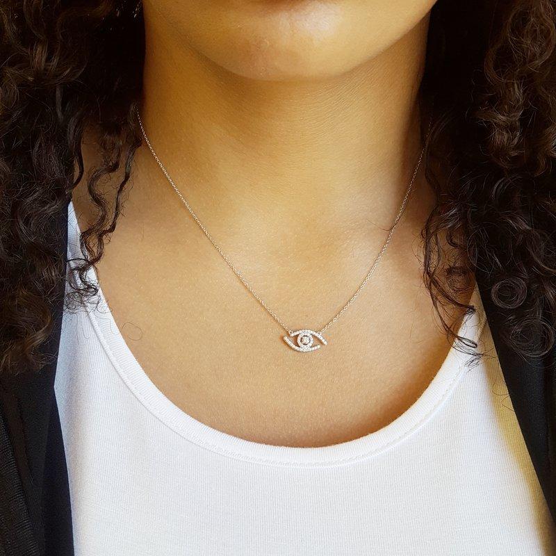 Sami Fine Jewelry Diamond Eye Necklace