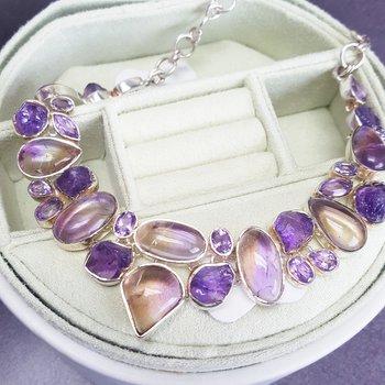 Watercolor Amethyst Necklace