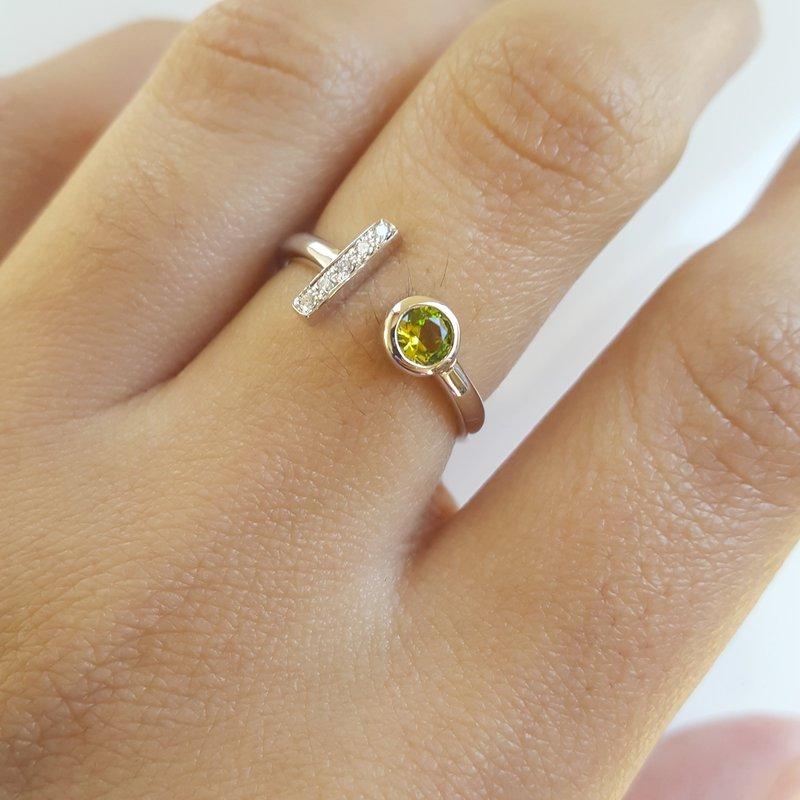 Arizona Peridot Gold Jewelry Peridot Open Fashion Ring