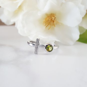 Peridot Open Fashion Ring