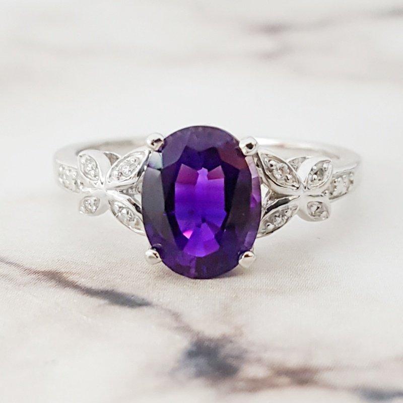 Arizona Amethyst™ Gold Jewelry Butterfly Ring