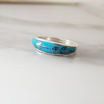 Turquoise Tapered Ring