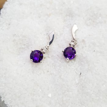 Arizona Amethyst Drop Earrings