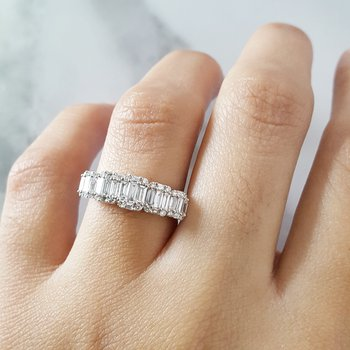 Diamond Baguette/Round Cut Fashion Ring