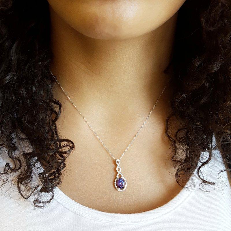 Sami Fine Jewelry Vintage Inspired Tanzanite Pendant