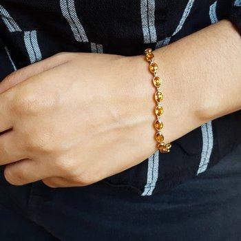 Citrine Tennis Bracelet
