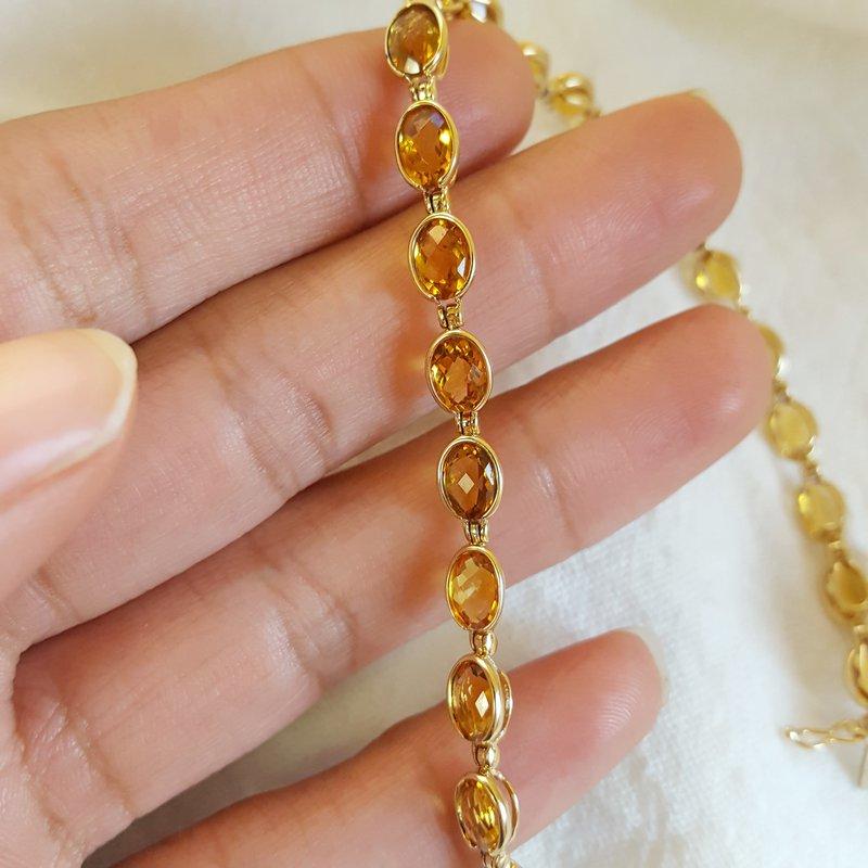 Sami Fine Jewelry Citrine Tennis Bracelet