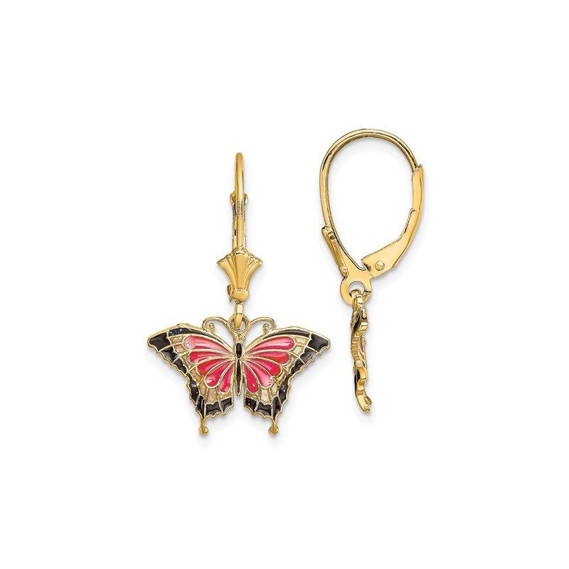 Sami Fine Jewelry Enamel Butterfly Earrings